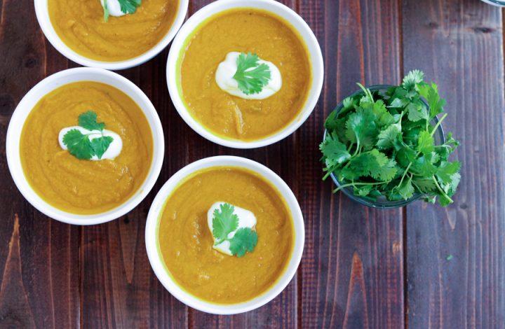 Velvety Carrot Cilantro Soup