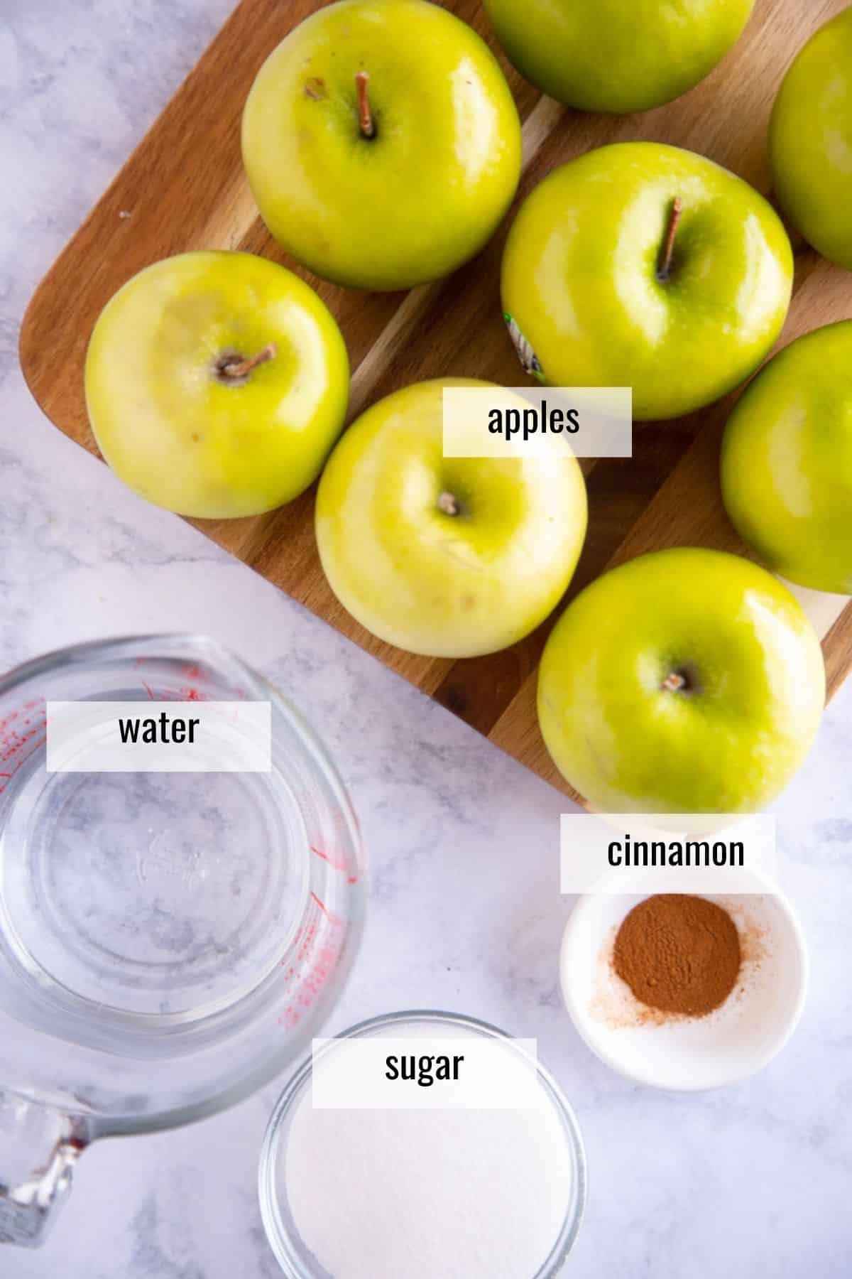homemade applesauce ingredients