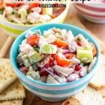 tuna salad with text overlay