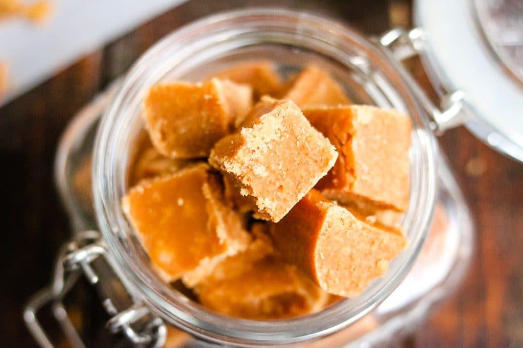 caramel fudge - in a jar