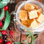 caramel fudge (russian fudge) pin with text overlay