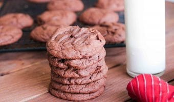 Chocolate Cake Mix Cookies Recipe (aka Cheater Cookies!)