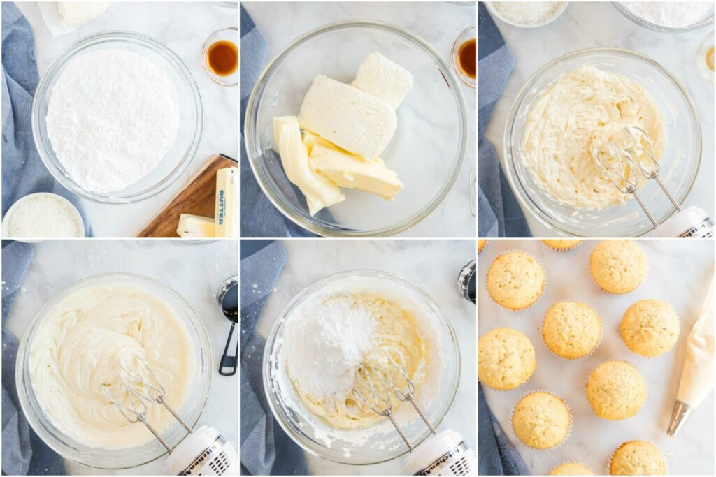 how to make frosting for coconut cupcakes