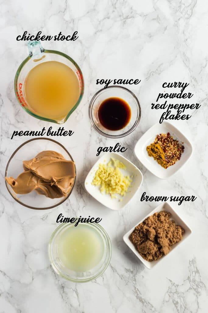 Peanut Sauce (Satay Sauce) – INGREDIENTS