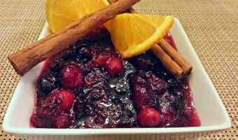 Homemade Spiced Cranberry Sauce