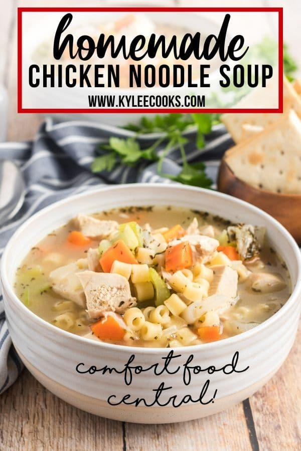 Chicken Noodle Soup with text overlay