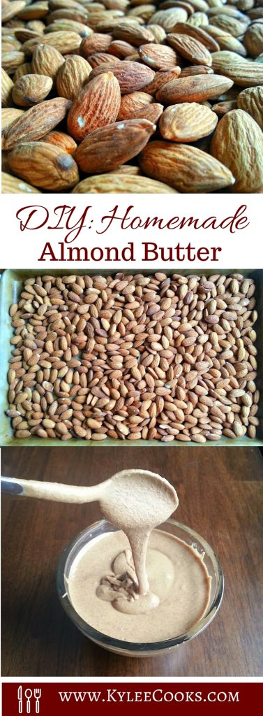 diy homemade almond butter