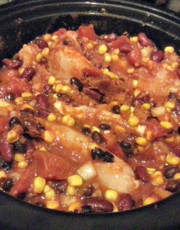 crockpot with chicken chili