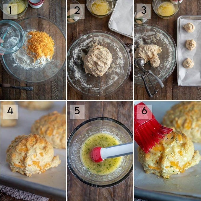 how to make red lobster biscuits - step by step instructions