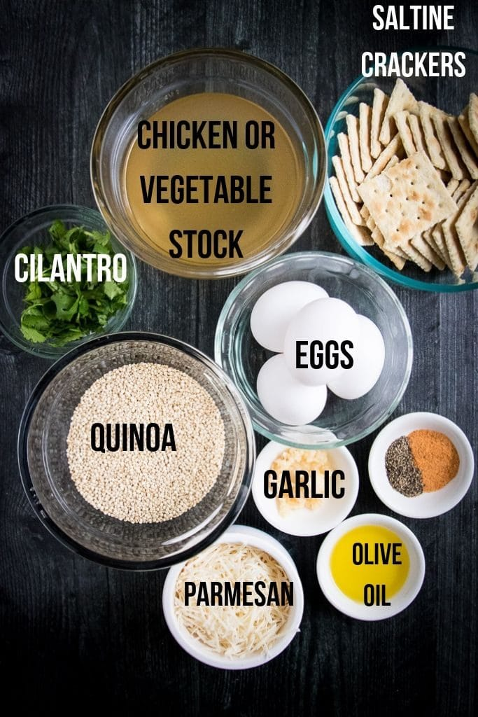 ingredients for quinoa patties