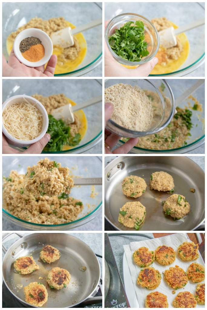 step by step instructions - how to make quinoa patties
