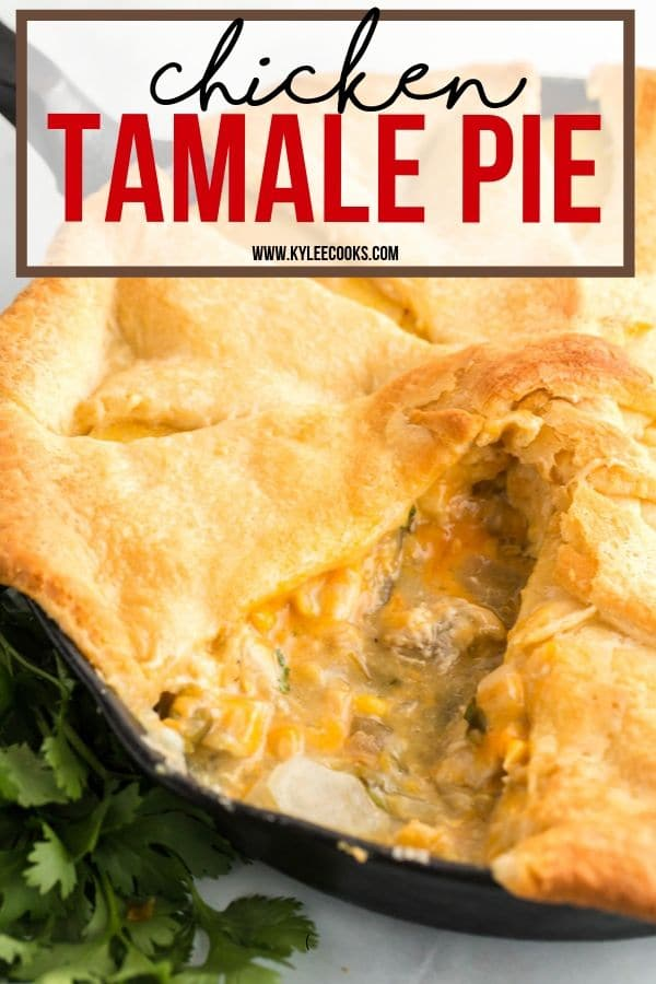 tamale pie pin with text overlay
