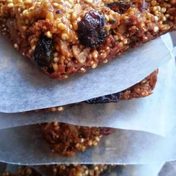 homemade granola bars stacked