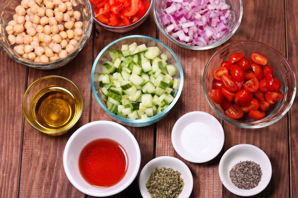 Summery Vegan Chickpea Salad - ingredients