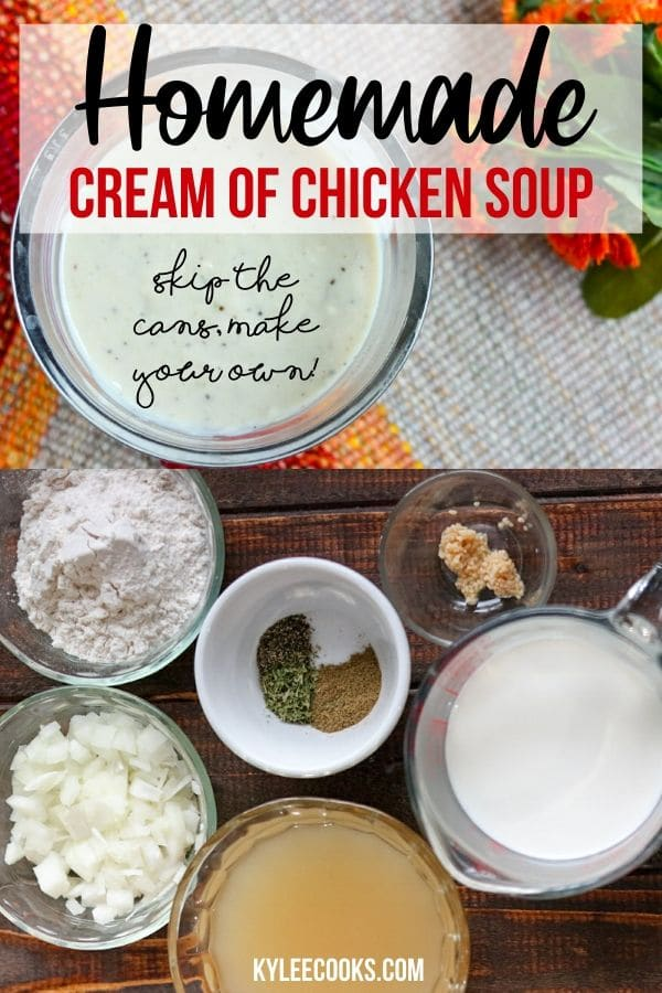 cream of chicken soup pin with text overlay