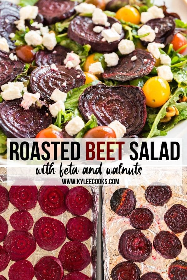 roasted beet salad pin with text overlay