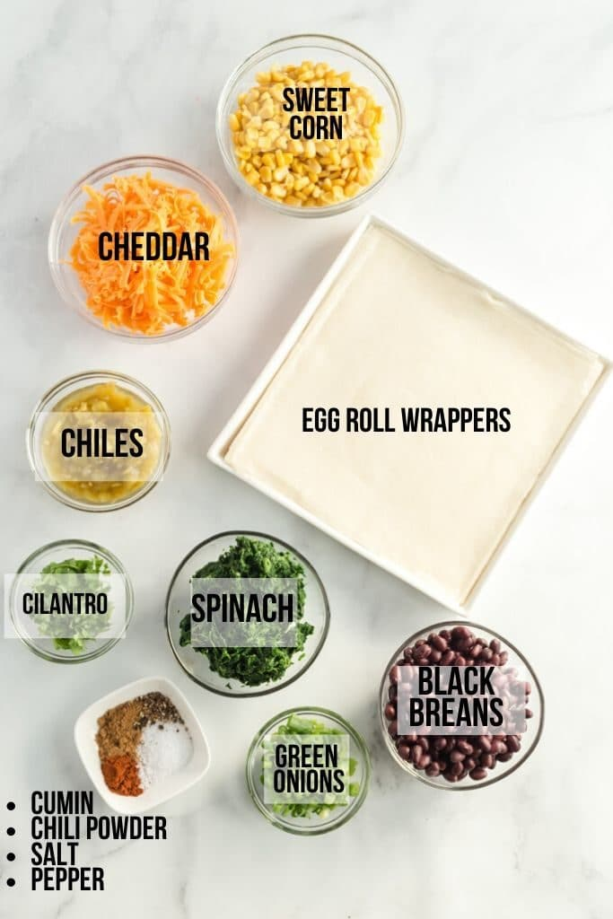 ingredients in southwestern egg rolls labelled