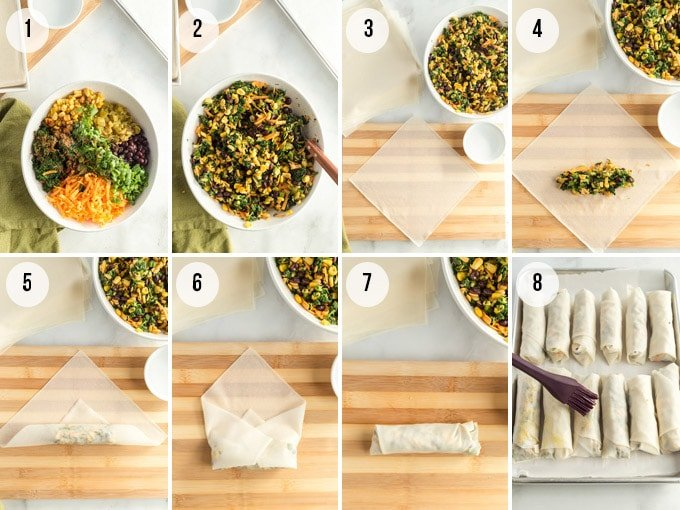 how to make southwestern egg rolls