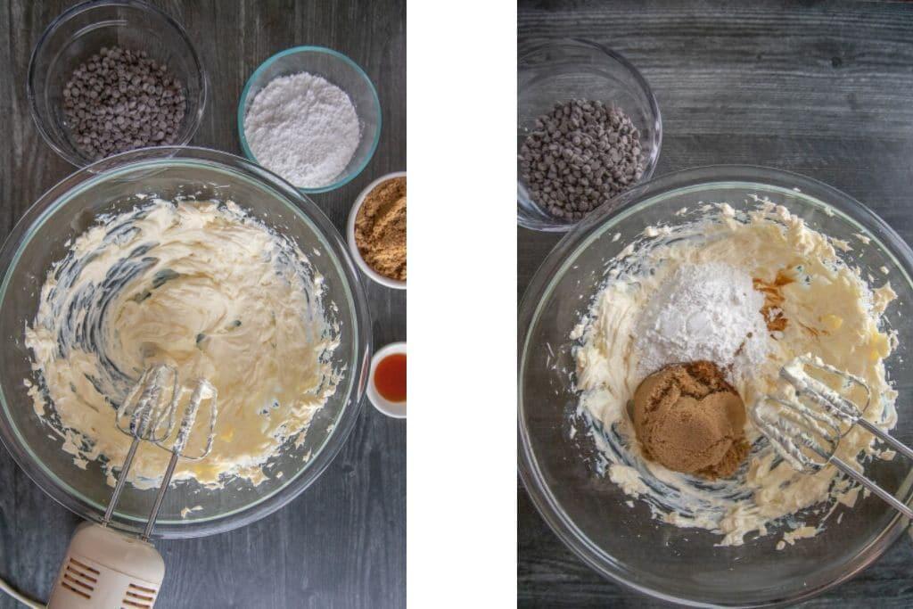 cookie dough dip - process photos