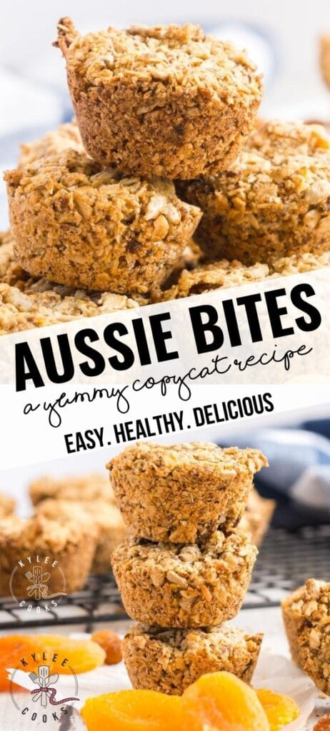 aussie bites pin with text overlay