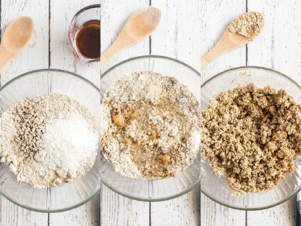 combining wet and dry ingredients