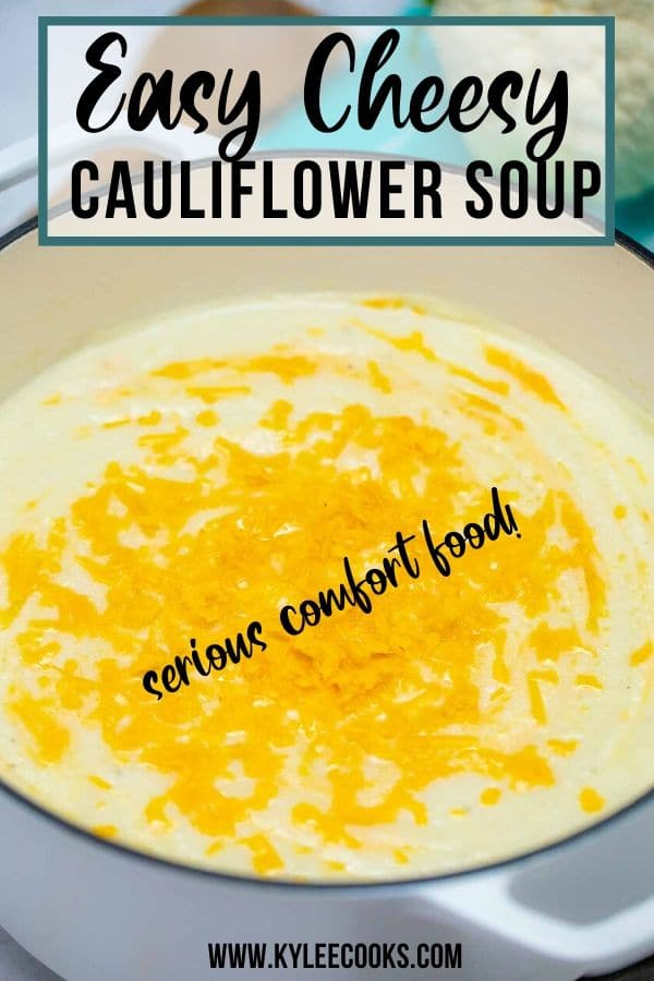 cauliflower soup with text overlay