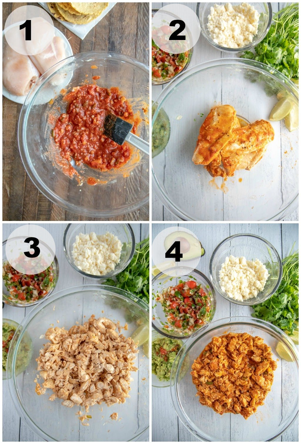Chicken Soft Tacos - Step by Step