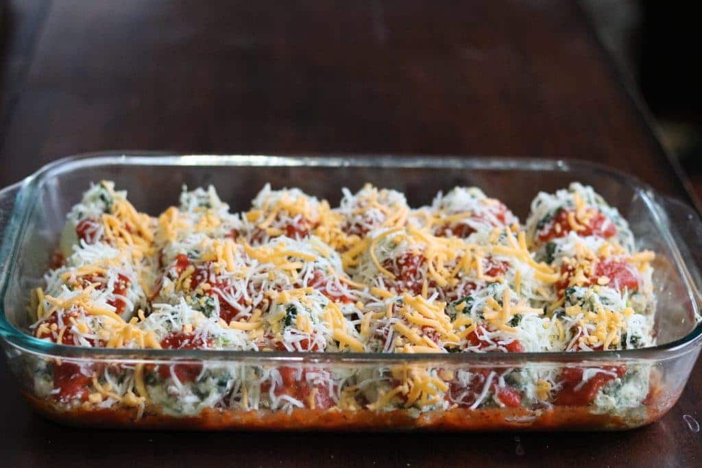 Sausage & Spinach Stuffed Shells