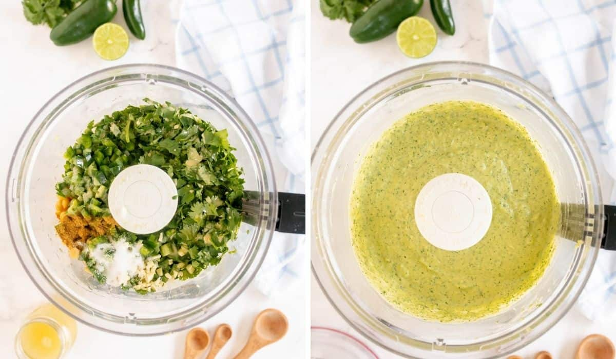 step by step pics showing how to make hummus