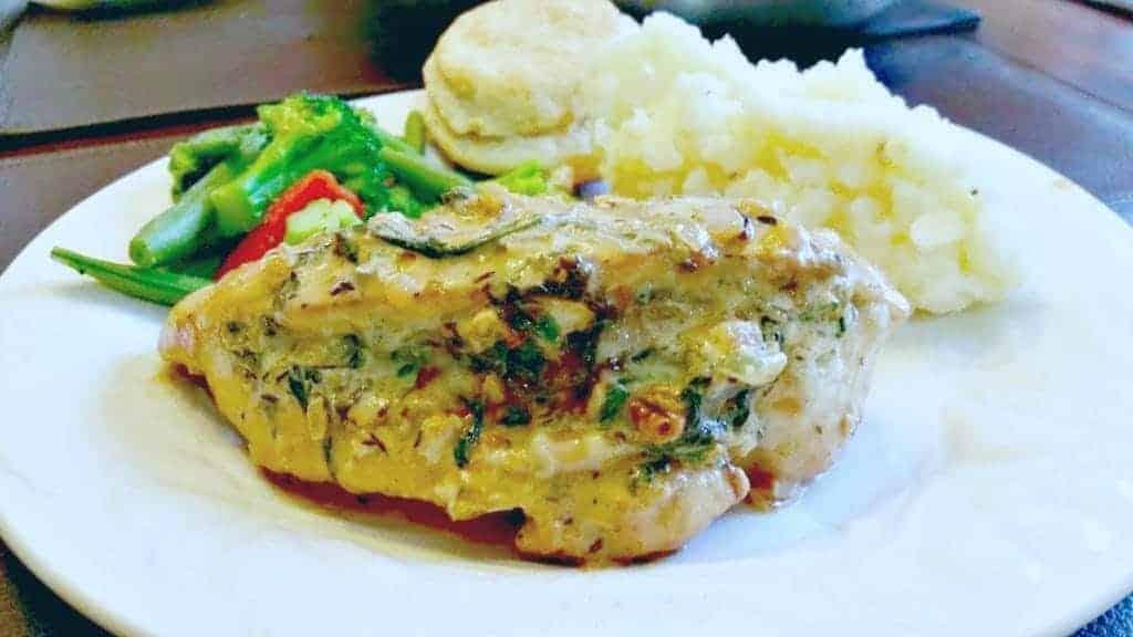 Spinach & Blue Cheese Stuffed Chicken