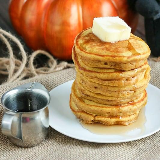 pumpkin spice pancakes square