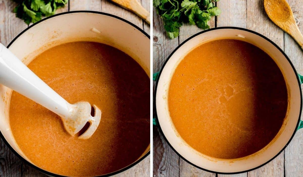 blending african peanut soup