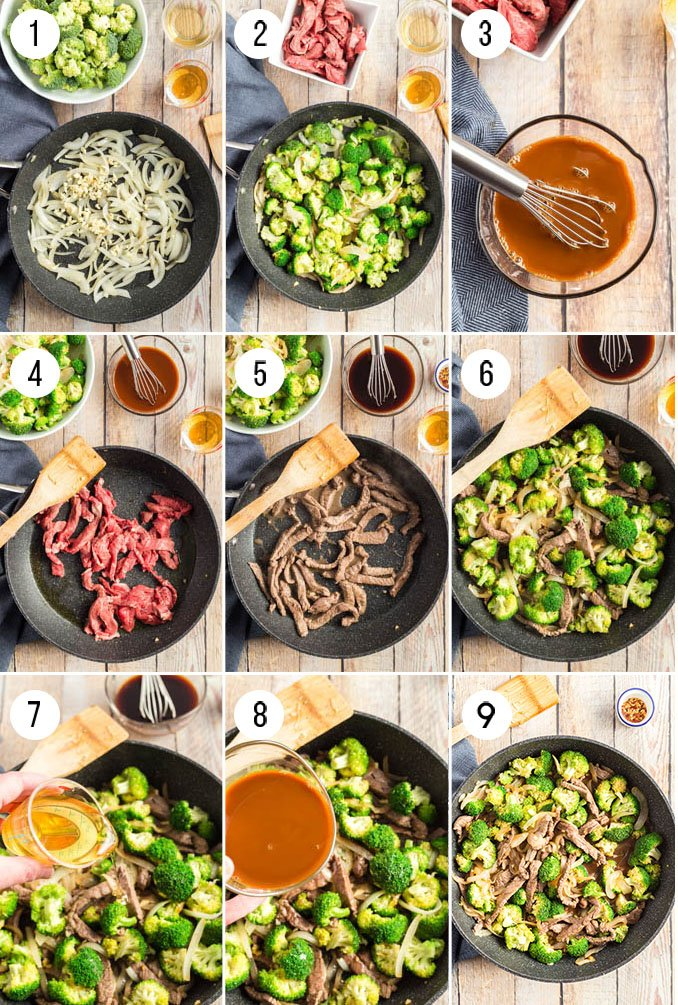 how to make beef and broccoli - step by step instructions