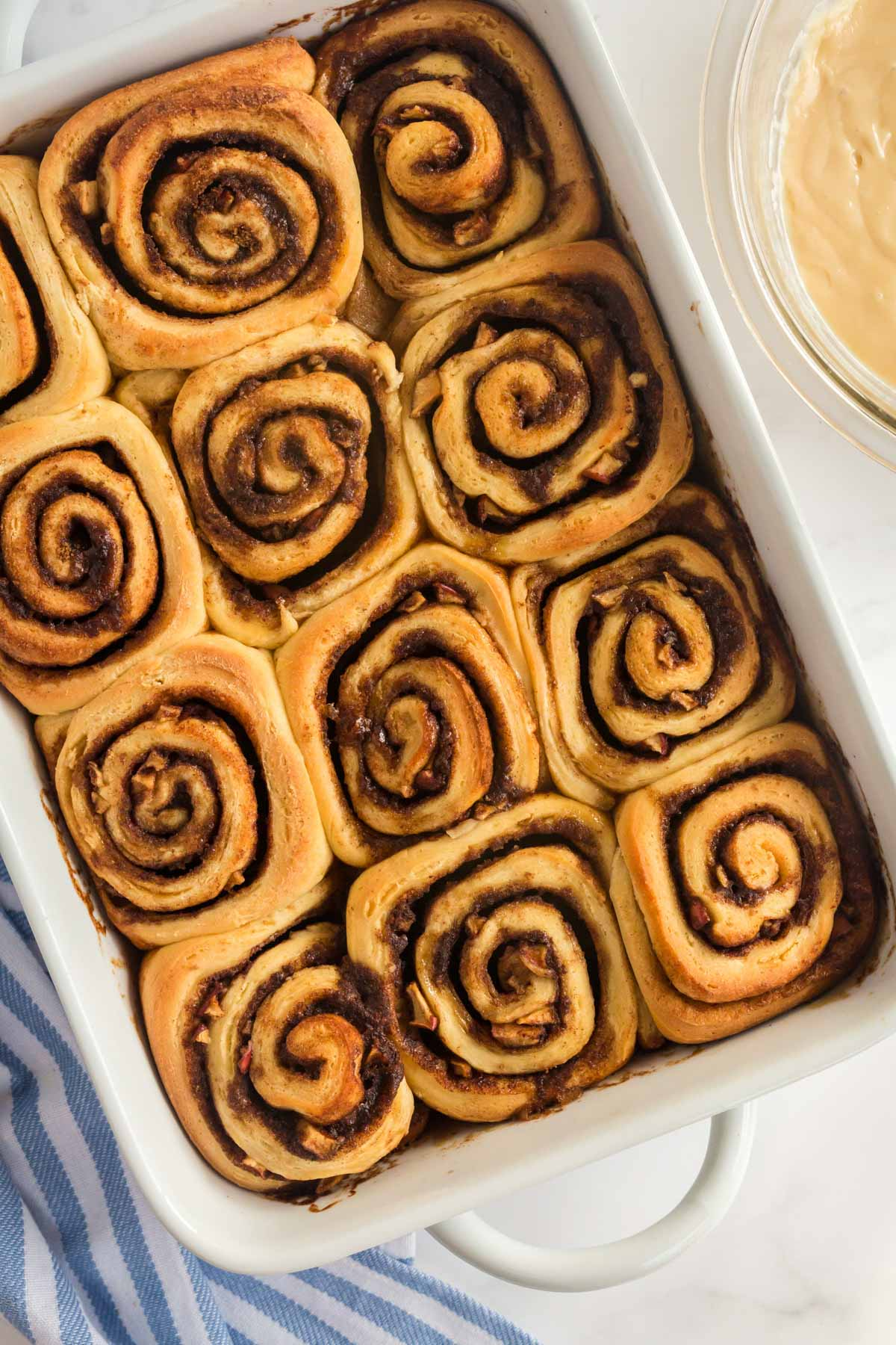 baked cinnamon rolls fresh out of the oven