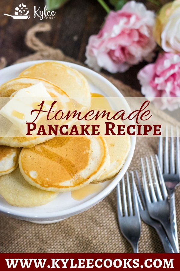 Homemade Pancakes - make a delicious, fluffy, vanilla-y batch of pancakes that taste WAY better than boxed. YOU can be the breakfast super-hero!#pancakes #fromscratch #breakfast