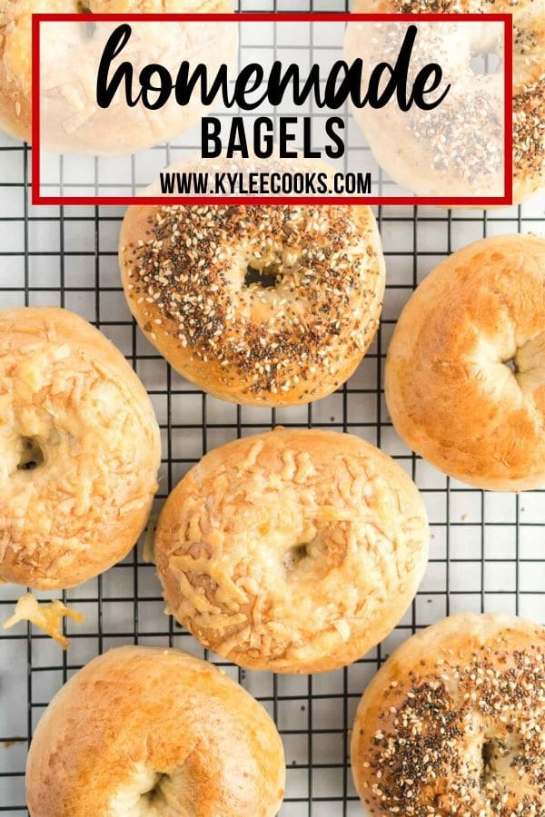 homemade bagels pin with text overlay