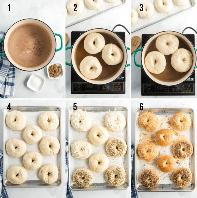 how to boil and bake bagels