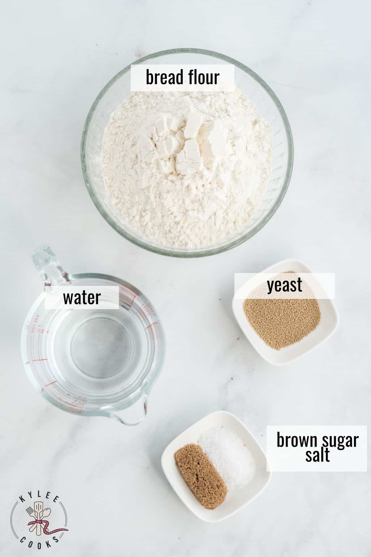 ingredients to make homemade bagels