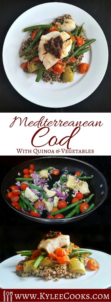 Mediterranean Cod with Quinoa & Vegetables