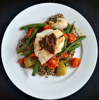 Mediterranean Cod with Quinoa and Vegetables