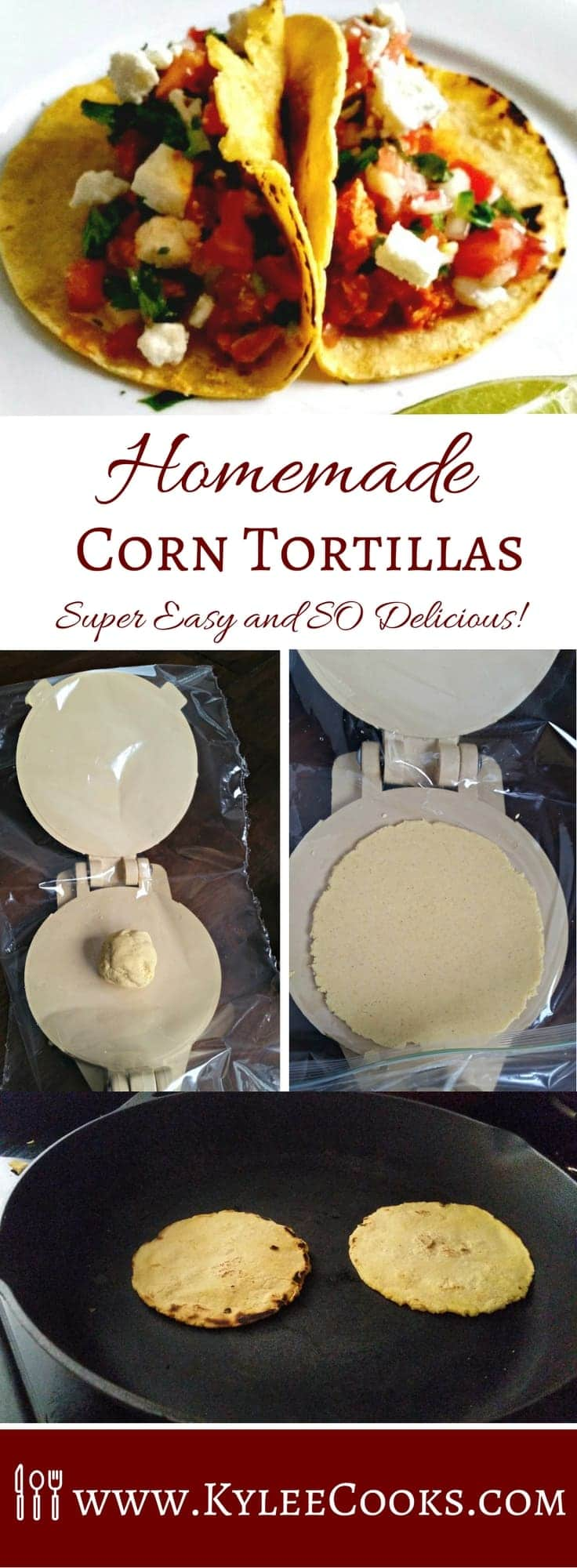 An easy way to add more homemade deliciousness to taco night with your very own, hot-off-the-pan corn tortillas!