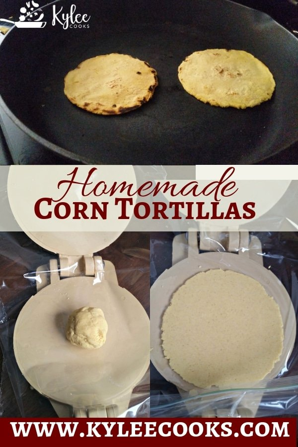 Homemade Corn Tortillas is an easy way to add more homemade deliciousness to taco night with your very own, hot-off-the-pan corn tortillas! #tortillas #mexican #tacos #homemade #recipe
