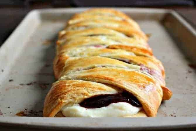 Raspberry Cream Cheese Pastry Braid