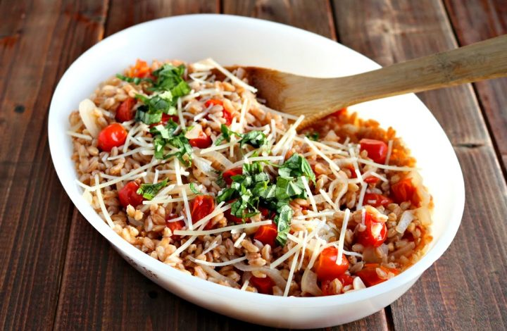 Farro with Tomatoes (and Basil and Parmesan)
