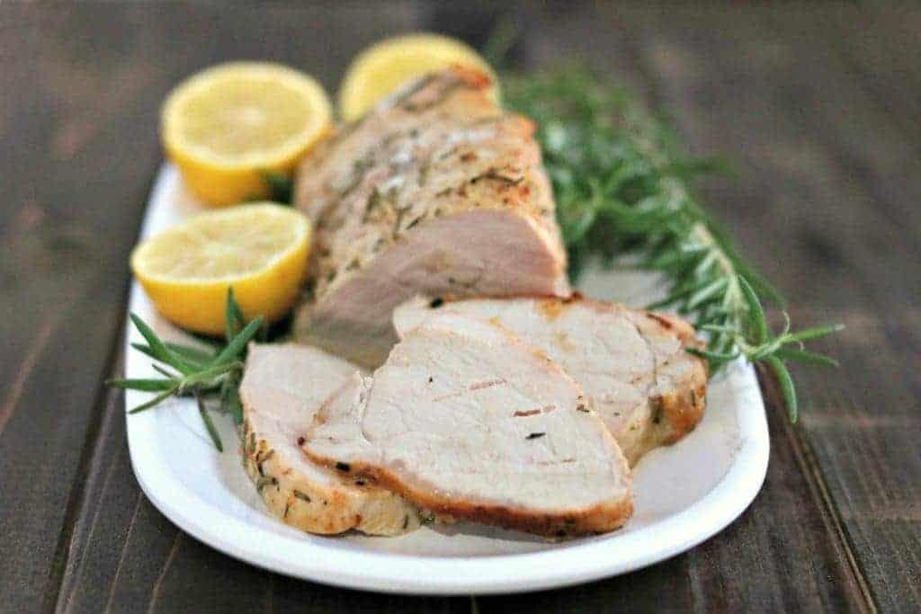 Lemon Rosemary Pork Tenderloin |Kylee Cooks
