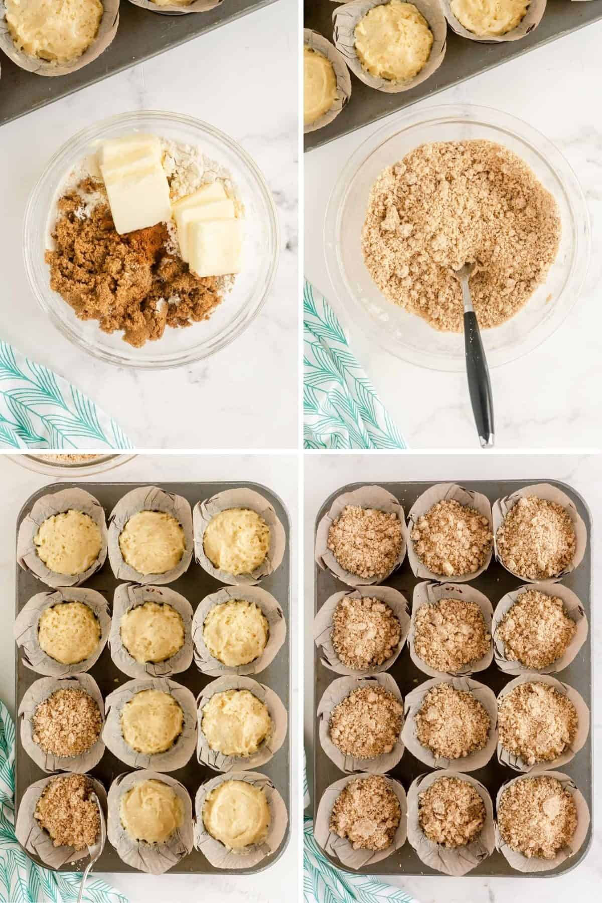 making streusel topping for muffins