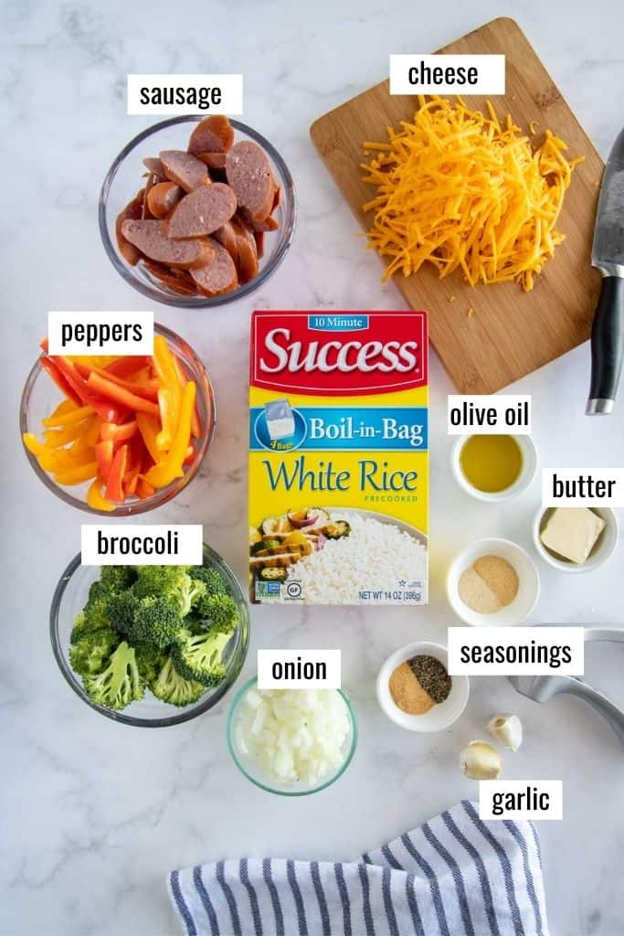 ingredients laid out on a marble board