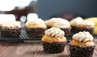 Banana Cupcakes with Brown Sugar Buttercream