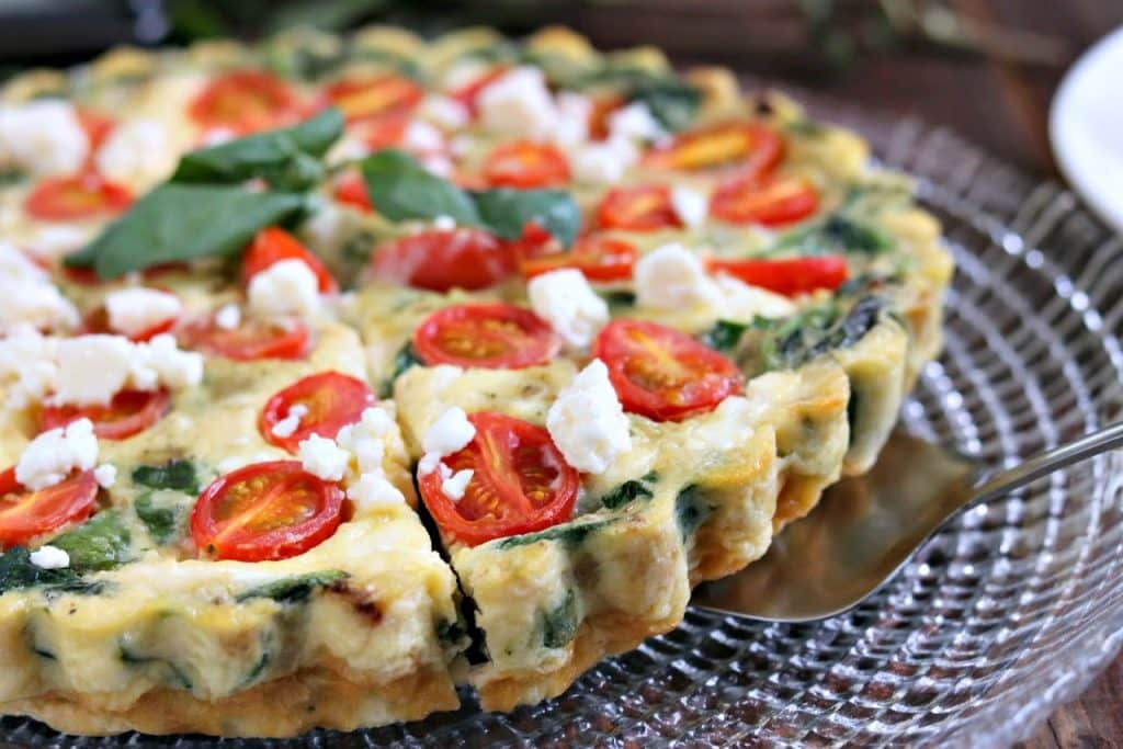 Spinach, Tomato and Feta Crustless Quiche |Kylee Cooks