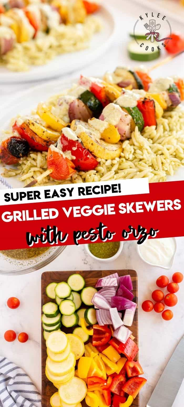 collage of veggie kabobs with recipe title in text overlay